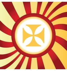 Maltese cross abstract icon vector