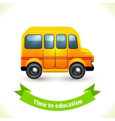 Education icon school bus vector
