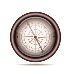 Old compass on white background vector