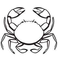 Silhouette crab vector