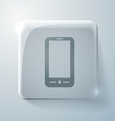 Smartphone glass square icon with highlights vector