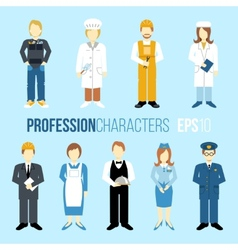 Proffession characters set vector