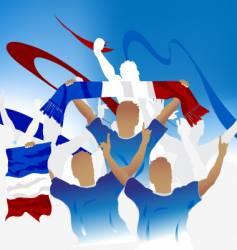 French crowd vector