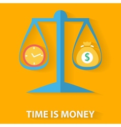 Time is money flat design concept vector