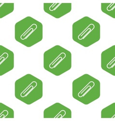 Paperclip pattern vector