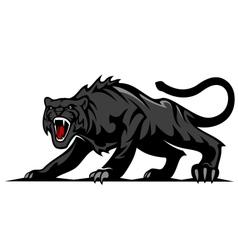 Danger black panther vector