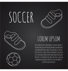 Template for advertising brochure with a sneakers vector