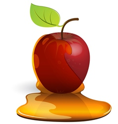 Caramel apple vector
