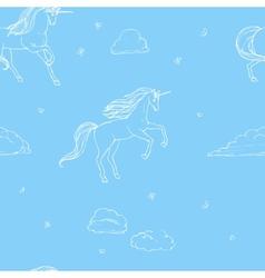Unicorn seamless vector