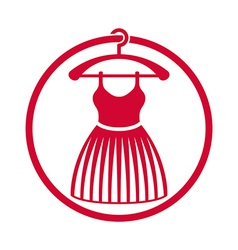 Cloth icon of dress with a skirt vector