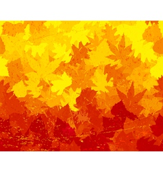 Distressed autumn leaves wallpaper vector