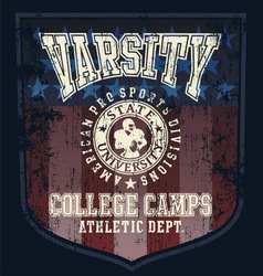 Football college camp vector