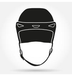 Silhouette symbol of classic goalkeeper ice hockey vector