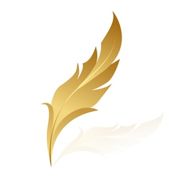 Gold feather vector