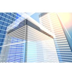 Architecture transparent building vector