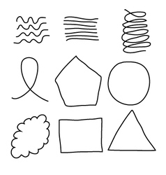 Scribble shapes vector