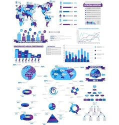 Infographic web collection purple vector