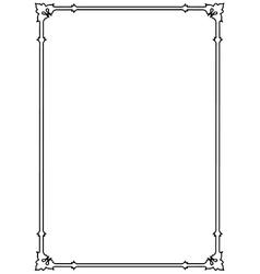 Decorative page border vector