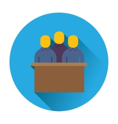 Jury trial icon vector