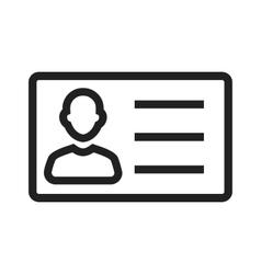 Identity card vector