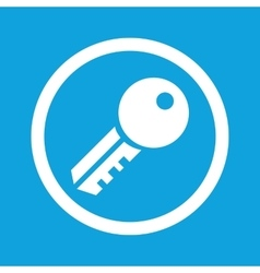 Key sign icon vector