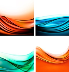Set of colorful elegant abstract backgrounds vector