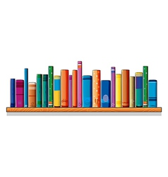 A set of different books vector