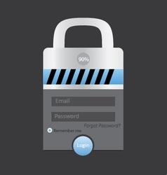 Lock login vector