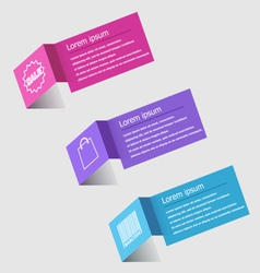 3d origami infographic design template vector