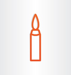 Candle icon design element vector