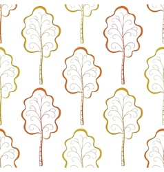 Seamless background autumn trees vector