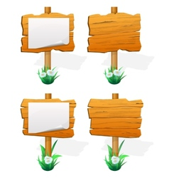 Wooden sign boards vector