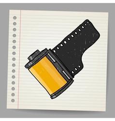 Camera film roll vector