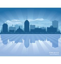 Fresno california city skyline silhouette vector
