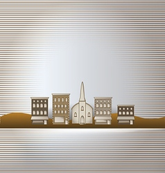 Small town background vector