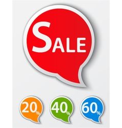 Red sale speech bubble vector