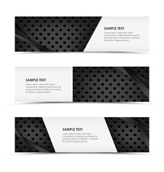 Abstract metal dynamic horizontal banners vector