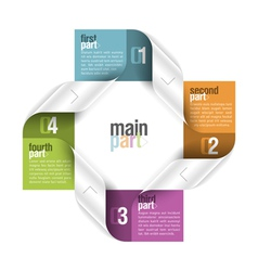 Four parts design template vector