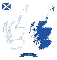 Map of scotland vector