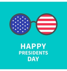 Round glasses with stars and strips presidents vector