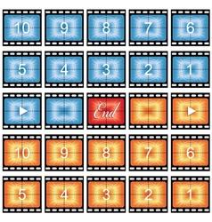 Film strip stills vector