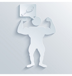 Muscled body background eps10 vector