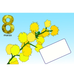 Eight march vector
