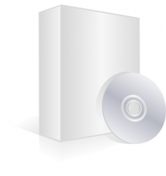 Blank software box and cd vector