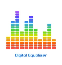 Rainbow equalizer on white background vector