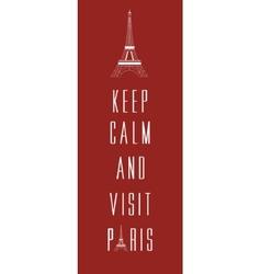 Paris travel card vector