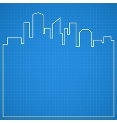 Abstract city background blueprint vector