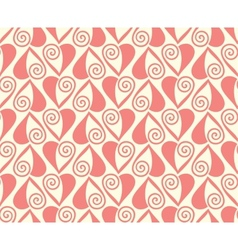 Seamless pattern with stylized hearts romantic vector