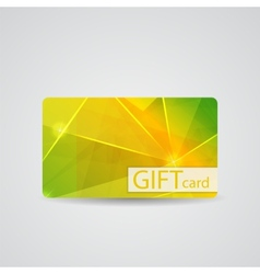 Abstract beautiful gift card design vector