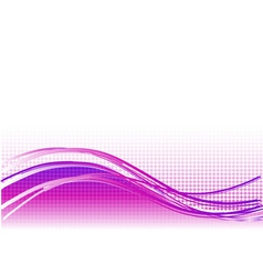 Purple wave background with lines vector